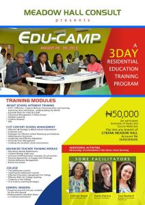 EDUCAMP - 3 DAY TRAINING FOR TEACHERS, SCHOOL HEADS, ADMINISTRATORS & SCHOOL OWNERS
