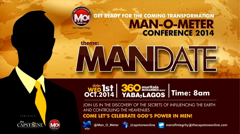 Manometer Conference For Men Theme Mandate Date 1st Oct 2014