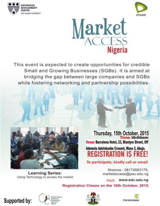 Market Access Abuja Flyer